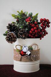 Noël, boîtes de conserve, boîtes de conserve, décor de Noël, boîtes de Noël, boîtes de conserve de vacances, Ho …   – CRAFTS