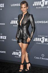 Halle Berry asiste a la proyección especial de John Wick de Lionsgate: Capítulo 3   – Shiny Leather Latex PVC Satin