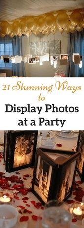20+ Creative & Easy Ways to Use Photos as Party Decorations