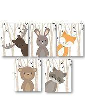 Junge Kinderzimmer Kunst, Wald Kindergarten Tiere, Baby Zimmer Dekor, Satz von 5 Drucke nur … #dekor #junge #kindergarten #kinderzimmer