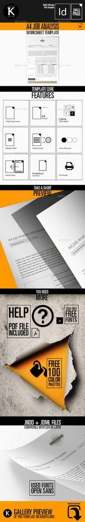 Job Analysis Logo Template Job analysis, Logo templates and - job analysis template