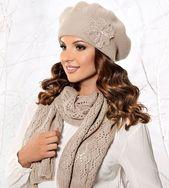 Beret Damski I Szalik Komplet Ana Produkt Polski Sklep Kocham Czapki Czapka Damskie Kobieta Moda Zimoweczapki Zima Fashion Beret Winter Hats