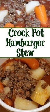 Simple pot hamburger stew recipe – cook go slow cooker – #c …   – Essen