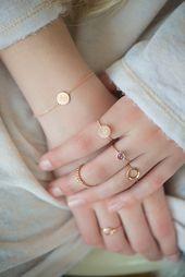 "Rings – rose gold ring ""Sonnentaler"", filigree, cord rail – a designer piece …"