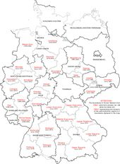 Administrative Districts Of Germany 1981 2008 Regierungsbezirk