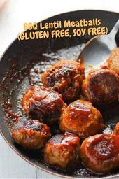 BBQ Lentil Meatballs (GLUTEN FREE, SOY FREE) – Rezepte heute – Rezepte – #BBQ …..