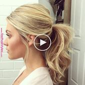 wedding hair ponytail #wedding #hair #weddinghair