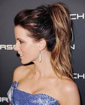Ponytail Hairstyles Check out these formal ponytails with lots of curls or super straight that are  Kate Beckinsale, and Taylor Swift show you how to ...