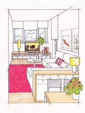 Schmale Räume richtig gestalten