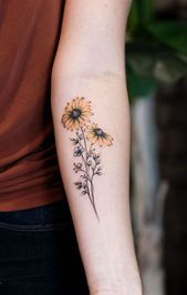 illustrative sunflower tattoo © Tattoo Artist Golden Iron Tattoo Downtown Toron … – #Downtown #Golden #illustrative #Iron
