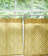 Cafe Curtains Not Gathered Modern Vintage Window Coverings Kitchen Window Coverings Home
