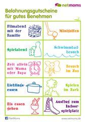 10 schöne Gutscheine, um Dein Kind zu belohnen