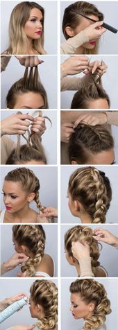 What are some nice party hairstyles for long hair step by step 2018