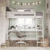 Harlan loft bed White Dorel Living  #dorel #harlan #living #white