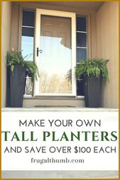 Make your own tall planters and save over $100 on …