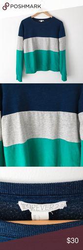 Colorblock Fleece Sweatshirt Für immer 21 Colorblock Fleece Sweatshirt. Navy blau,… – My Posh Picks