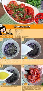 Tomatensalat – SAUER EINGELEGTES GEMÜSE Rezepte mit Videos, mit Rezeptkarten