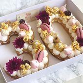 Herzlichen Glückwunsch zum Geburtstag 🎉🌸 #gargeran #biscuit #vanilla #cream #ferrerorocher – #birthday #biscuit   – Birthday Cake Vanilla Ideen