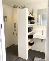 Ooo Ich Liebe Diese Idee Mit Offenem Regal New Ideas My Blog Blog Diese Ich Ideas In 2020 Badezimmerideen Duschraum Wohnung Badezimmer