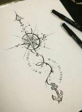 16+ Ideas For Tattoo Frauen Kompass Mandala – Tetování