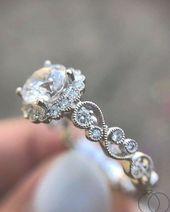 100 mejores anillos de compromiso para mujeres – Página 3 – Wedding to Amaze   – halo wedding rings