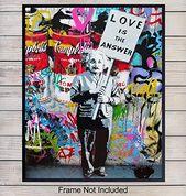 Amazon.com: Banksy Albert Einstein Graffiti Wall Art Print – Street Mural Poster…  – apt