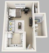 56 Coole Ein Zimmer Wohnung Plane Ideen Bedroomapartment Cool 56 Cool Ein Bett 4546 In 2020 Planer Ideen Wohnung Zimmer