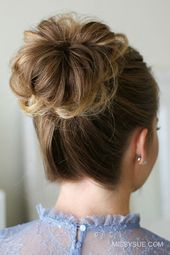 Chic updo for special occasions Dutt hairstyle easy and quick to make yourself The post Chic updo for special occasions …