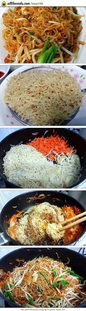 Stir Fry Vegan Ramen Recipe by LeeGoh
