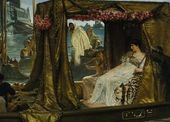 Antony and Cleopatra' (1885) by Lawrence Alma Tadema. ( Public Domain )