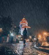 """ilkin karacan karakuş on Instagram: """"Romantik bir adam şu #galata vesselam💙 Ben yine gidiyorum… İstanbul size emanet gençler🕺🏻💙💙💙 #istanbul #rainy"""""""