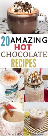 Homemade Hot Chocolate Recipes – 20 Amazing Recipes You Will Love!