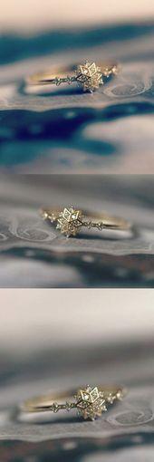 Netter Schneeflocke Ring Cute Snowflake Ring Ne…
