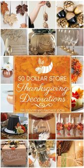 50 Dollar Store Thanksgiving Decorations – #Decorations #Dollar #Store #Thanksgi…