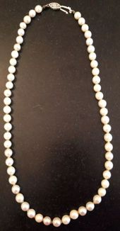 9-10mm South Sea Round White Pearl Necklace 14k Clasp Diy Dazzle Women unique