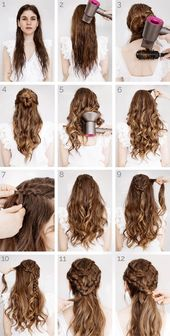▷ 1001 + ideas and instructions for modern hairstyles with curls – #instructions #frisuren #Ideen #locken #moderne