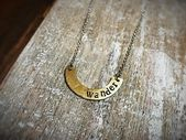 """Wanderlust """"wander"""" Necklace – Mixed Metal Jewelry – Gypsy Soul – Travel – Moon Shape Inspired – Sil – Products"""