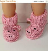 Instant Digital File pdf download knitting pattern Toddler Piggy Boots knitting pattern