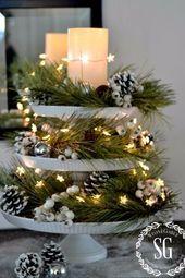 Christmas Table Decorations Christmas Pedestal