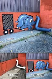 24 incredible before and after street art worldwide   – Arte urbano