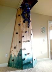 Secret game room: Indoor climbing wall in the nursery leading to one