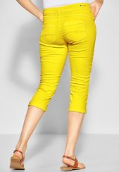 STREET ONE Casual-Fit Jeans 'Crissi' Damen, Gelb, Größe 42/32