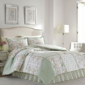 Laura Ashley Harper 4-Piece Jade Green Queen Comforter Set