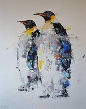 Saatchi Art Artist Dejan Bozinovski Painting Penguins Art