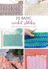 20 Basic Crochet Stitches – Dabbles & Babbles