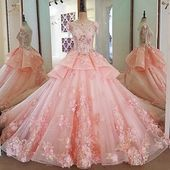 Lace Beading Ball Gown