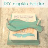 DIY napkin holder | Beach inspired napkin holder k…