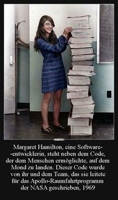 Margaret Hamilton, a software developer, stands .. | Funny pictures, sayings, jokes, really funny