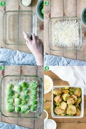 Crispy, Parmesan Roasted Brussels Sprouts that taste incredible, are simple to m…   – For the love of FOOD