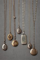 Collector's Lockets in SHOP Shoes & Accessories Jewelry at BHLDN – what is jewel…